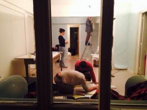 Une partie de notre équipe technique au travail (Cecilia, Heidi, Sébastien et Kamardine).